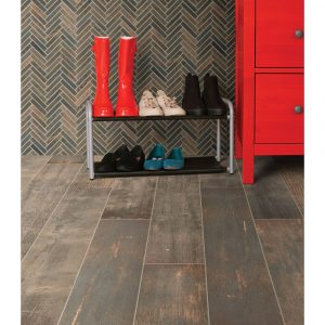 Emberwood Chevron Mosaic | Leaf Floor Covering