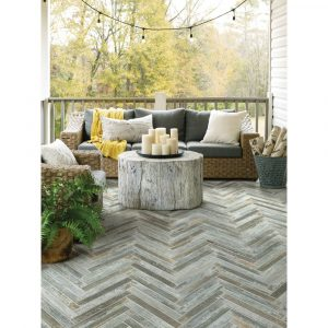 Fusion Herring bone Mosaic | Leaf Floor Covering