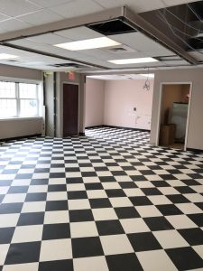 Black and white Checks floor | Leaf Floor Covering