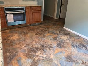Stone flooring in Kitchen | Leaf Floor Covering