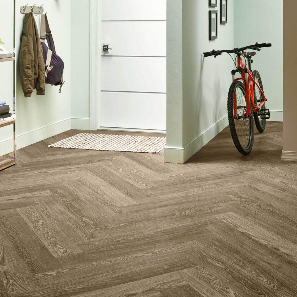 Bicycle on flooring | Leaf Floor Covering