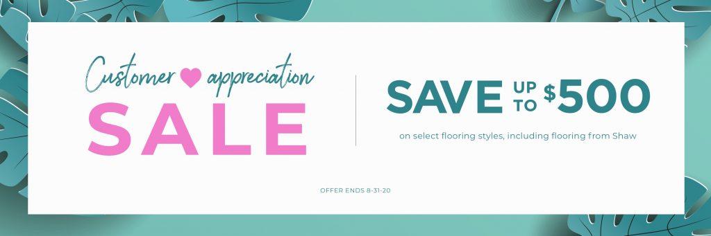 Customer Appreciation Sale | Leaf Floor Covering